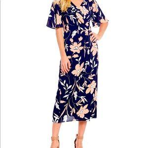 Maggy London NWOT floral crepe midi dress